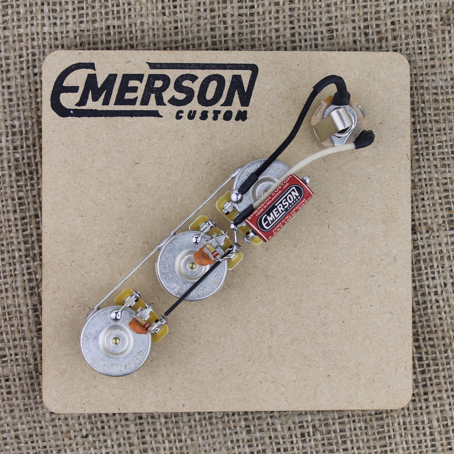Emerson Custom Jazz Bass Prewired Assembly Guitarbox Way Switch Wiring Diagram On Guitar 3